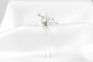 Toni Federici Ava Silver Hair Pin Bridal Headpiece