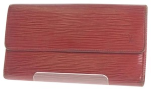 Louis Vuitton Louis Vuitton Red Epi Long Coin Card Wallet (#01102084158LP00)