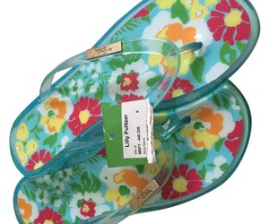 Lilly Pulitzer Blue,green,red, yellow, orange Sandals