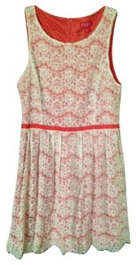 Elle short dress White/Coral on Tradesy