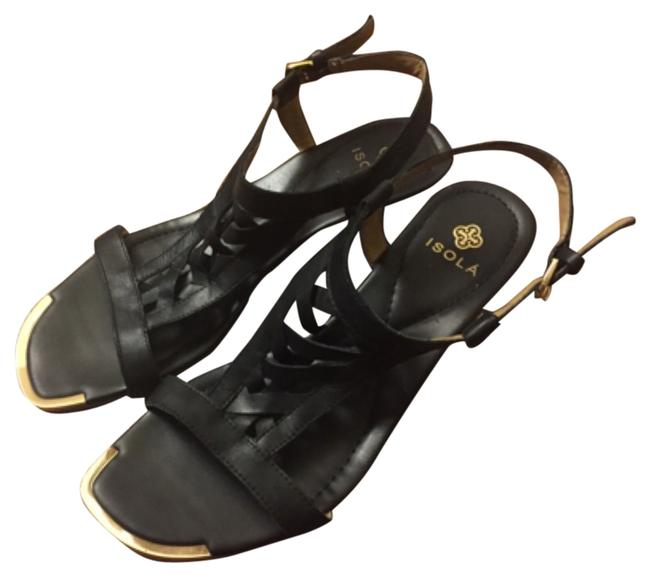 Isola Blac Woven Leather Open-toe Wedge Sandals Size US 9.5 Regular (M, B) Isola Blac Woven Leather Open-toe Wedge Sandals Size US 9.5 Regular (M, B) Image 1