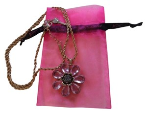 Betsey Johnson Pink Flower Necklace