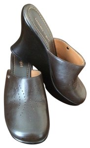 Tommy Hilfiger Leather Dark Brown Mules