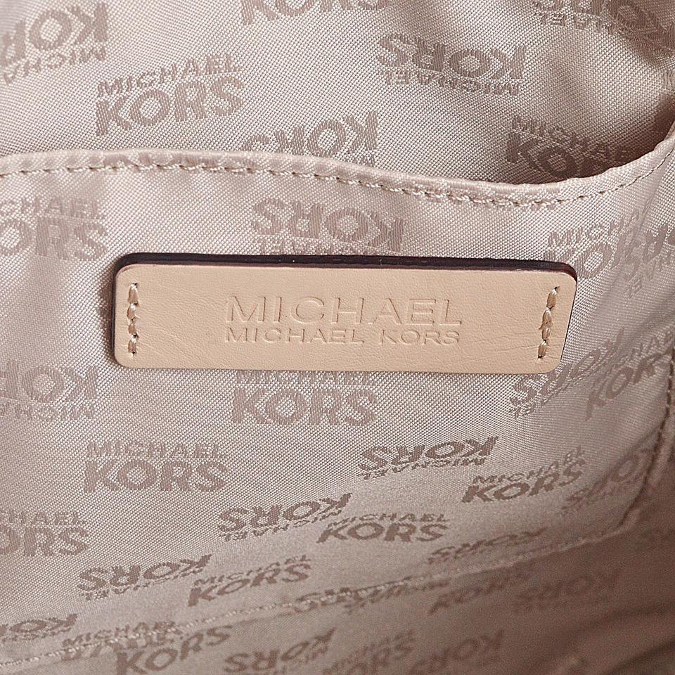 198ba6641a42 Michael Kors Jet Set Item East West Top Zip A3698c Brown Logo Pvc ...
