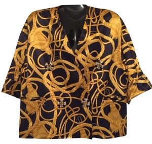 Gianfranco Ferre Top Out Night Evening gold Blazer