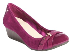 Cole Haan Nike Air Nike Patent Winery/Purple Wedges