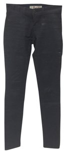 J Brand Coated Denim Waxed Denim Skinny Skinny Jeans-Coated