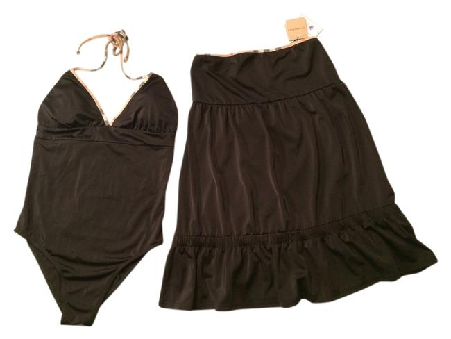 Item - Black Swimsuit and Coverup Skirt Nwt-black One-piece Bathing Suit Size 14 (L)