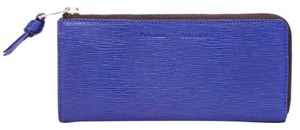 Proenza Schouler Proenza Blue Leather Continental Wallet New With Tags