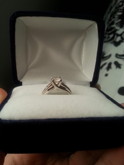 Other Cubic Zirconium & 10k White Gold Ring/Engagement Ring