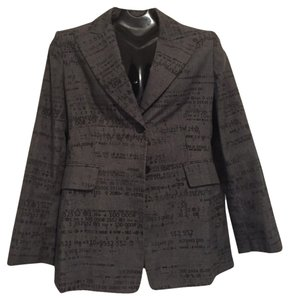 Moschino Top Office Out Dark Gray Blazer