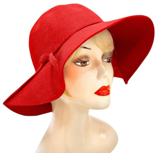 Other Red Wool Felt Crushable Wide Brim Fedora Floppy Hat 2 For 1 Sale