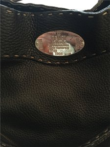 Fendi Bucket Selleria Leather Shoulder Bag
