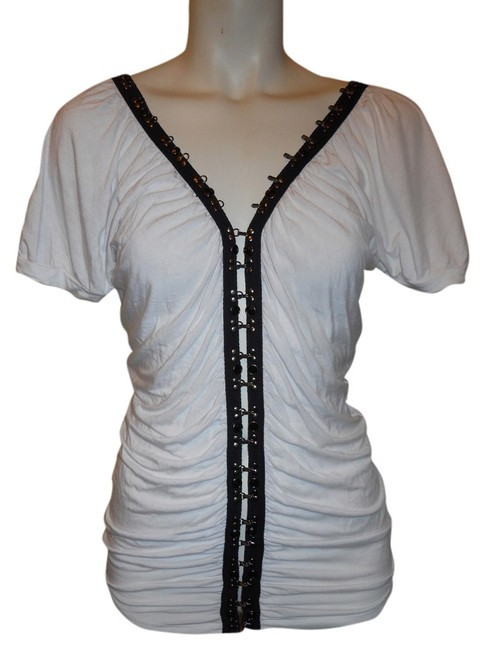 Preload https://img-static.tradesy.com/item/6267394/soul-revival-white-and-black-shirred-knit-studded-night-out-top-size-4-s-0-1-650-650.jpg