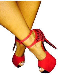Scence Red and gold Sandals