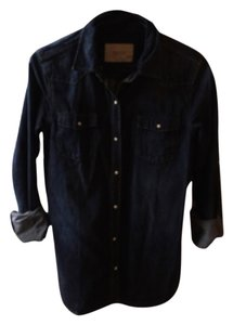 Maison Scotch Button Down Shirt Denim/navy