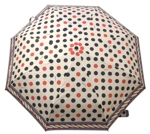 Brighton Brighton D23094 Its Raining Polka Dots Red Navy 36