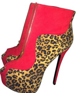Alba Footwear Red and leopard Boots