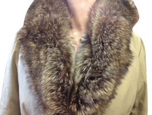 Saint Laurent Raccoon Lining Fur Vest Raincoat