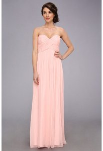 Donna Morgan Blush Chiffon Laura Formal Bridesmaid/Mob Dress Size 8 (M)