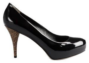 Fendi Leather Logo Black Pumps