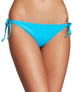 Echo Design ECHO TURQUOISE BLUE STRING SIDE TIE BIKINI SWIMSUIT BOTTOMS L