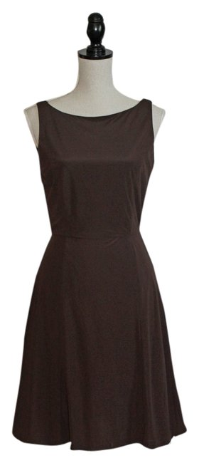 J.Crew Chocolate Brown Knee Length Cocktail Dress Size 6 (S) J.Crew Chocolate Brown Knee Length Cocktail Dress Size 6 (S) Image 1