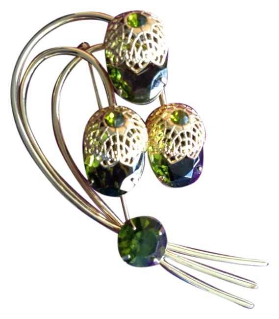 Sarah Coventry Green Bouquet Brooch Sarah Coventry Green Bouquet Brooch Image 1