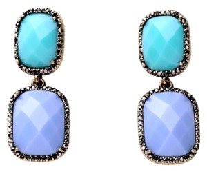 Other Two tone earrings with crystal accents