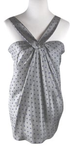 7 For All Mankind Polka Dot Top Gray