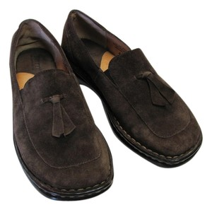 Brn Leather Good Condition Brown Flats