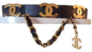 Chanel SUPER RARE VINTAGE CHANEL SEASON 29 MASSIVE GOLD PLATED CC BELT
