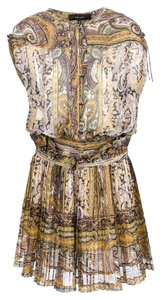 Isabel Marant short dress tan yellow purple on Tradesy