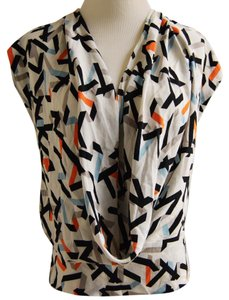 Diane von Furstenberg Dvf Silk Dvf Silk Dvf Night Out Casual Party Euc Dressy Top Multicolor