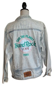 Hard Rock Vintage Acid Wash Denim Womens Jean Jacket