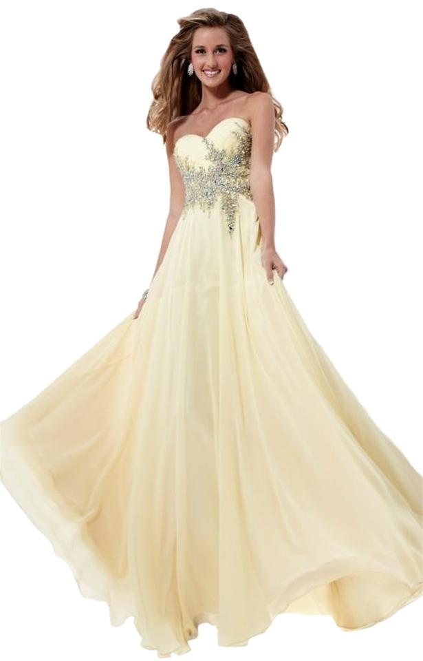 Undefeated X 9b4ed Ff7fb Plus Size Yellow Gown Dzairmagcom