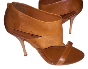 ALDO Leather Brown Brown Leather Sandals