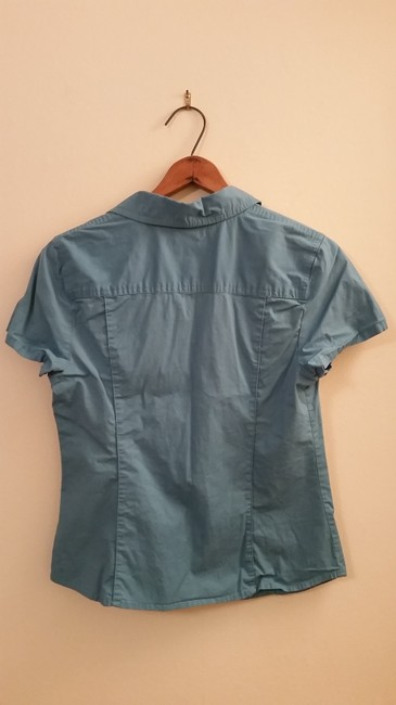 Other Metal Fitted Flash Sale Top Teal