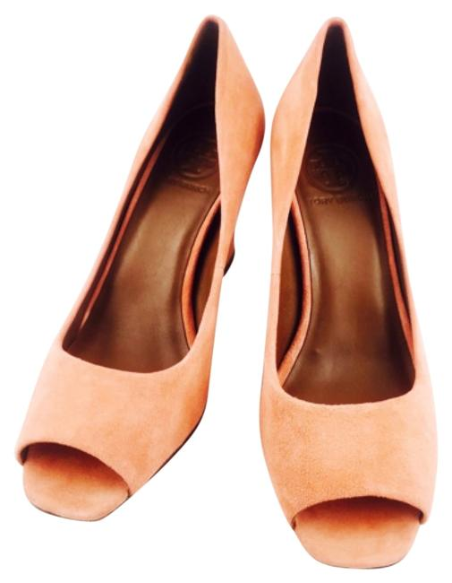 Tory Burch Orange Suede Gold New Formal Shoes Size US 7 Regular (M, B) Tory Burch Orange Suede Gold New Formal Shoes Size US 7 Regular (M, B) Image 1