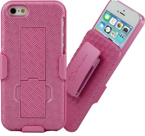 Stalion Stalion Pink iPhone 5 5S Belt Clip Case - Secure Holster Shell & Kickstand Combo