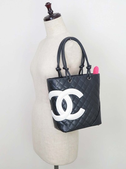 Chanel Quilted Leather Small Tote in Black