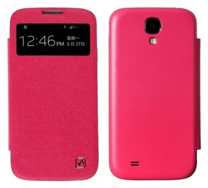 Hoco Samsung Galaxy S4 Luxury Deluxe Window View Flip Leather Case - Pink