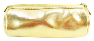 Axcess Axcess by Liz Claiborne Shiny Gold Tube Pouch NEW