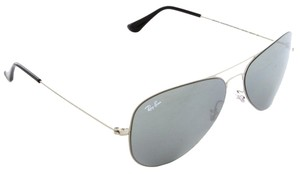Ray-Ban Ray-Ban RB3513 154/8G Aviator Flat Metal Silver Unisex Sunglasses