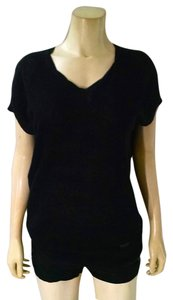 A|X Armani Exchange Knit Size Small Short Sleeves Stretchy P1722 Top black