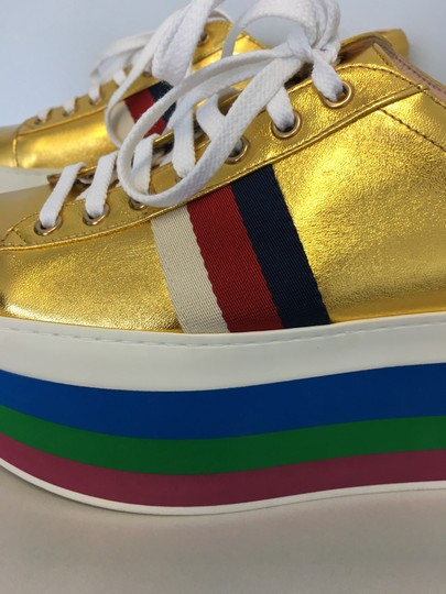 Gucci Rainbow Platform Sneakers Sneakers Gold Athletic