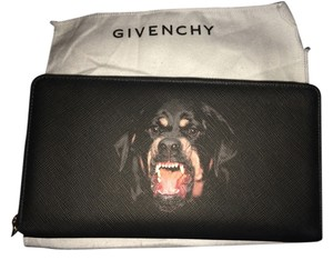 Givenchy Italian Icon Logo Pvc Vegan Faux Leather Gold Gold Hardware Exclusive European Edgy Wallet Organizer Saffiano Iconic Rottweiler Clutch