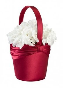 Red other flower girl baskets up to 90 off at tradesy red sash flower girl basket mightylinksfo