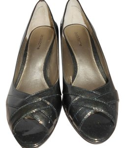 Liz Claiborne High Heels High Heel Patent Leather Leather Classic Gray Pumps