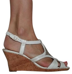 Clarks Cork Wedge White Wedges